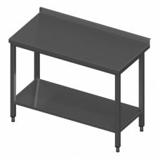 Nerūdijančio plieno stalas su lentyna NUOMA-