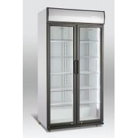 Dviejų durų gėrimų šaldytuvas stiklinėm durim