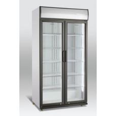 Dviejų durų gėrimų šaldytuvas stiklinėm durim SCAN DOMESTIC