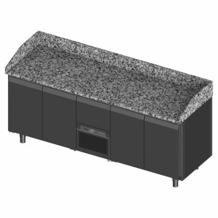 Novameta šaldomas picų stalas su granito paviršiumi FM0-P404-213/70/90-