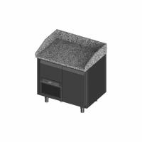 Novameta šaldomas picų stalas su granito paviršiumi FM0-P101-94/70/90