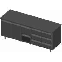 Novameta šaldomas stalas FP0-P446-213/70/90