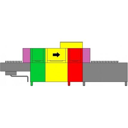 Konvėjarinė indų plovimo mašina 5100x950x1770h