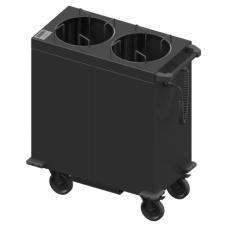 Šildomas lėkščių dispenseris - vežimėlis