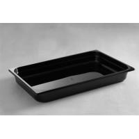 Juodo polikarbonato gastronominis indas GN1/1 65mm
