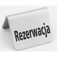 """STALINĖ INFORMACINĖ LENTELĖ - """"REZERVUOTA"""" - 52x40 mm Hendi"""