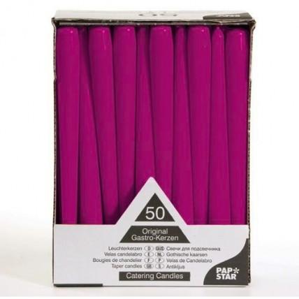 Violetinės spavos žvakė, 1 vnt. PAP*STAR