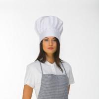 Balta virtuvės šefo kepurė