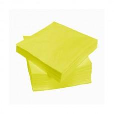 Geltonos servetėlės LENEK 24 cm, 400 vnt.