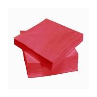 Raudonos servetėlės LENEK 24 cm, 400 vnt.