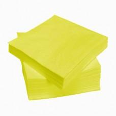 Geltonos servetėlės LENEK 33 cm(3 sl.), 250 vnt.