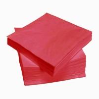Raudonos servetėlės LENEK 33 cm (3 sl.), 250 vnt.