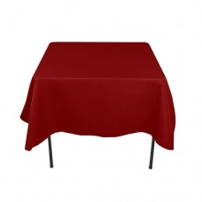 Bordo square tablecloth rent, 2.2x2.2 m