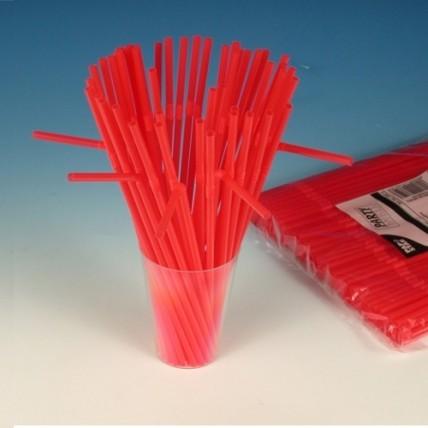 Šiaudeliai, 24 cm, 250 vnt., raudoni