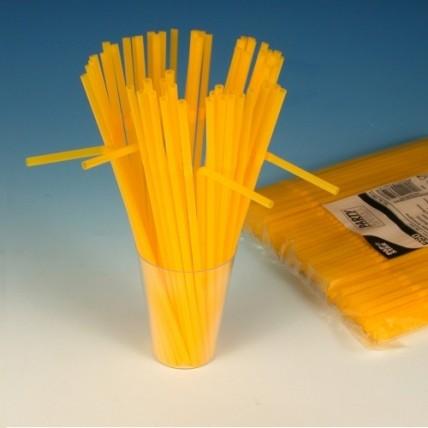Šiaudeliai, 24cm, 250 vnt., geltoni