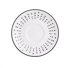 Porcelianinė lėkštė po puodeliu SATINIQUE BLACK, 12.5 cm Chef & Sommelier