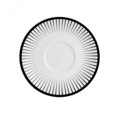 Porcelianinė lėkštė po puodeliu Chef & Sommelier GINSENG BLACK, 12.5 cm Chef & Sommelier
