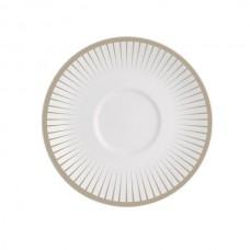 Porcelianinė lėkštė po puodeliu Chef & Sommelier GINSENG GREY, 12.5 cm Chef & Sommelier