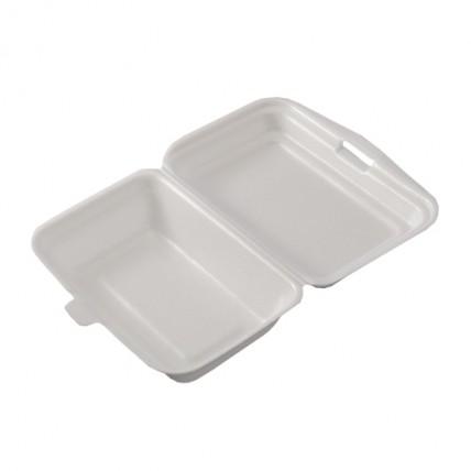 Vienkartinės putoplasto dėžutės maistui (1 skyriaus), 125 vnt.