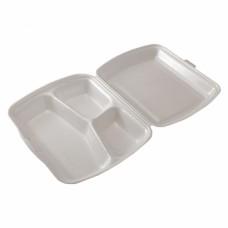 Vienkartinės putoplasto dėžutės maistui (3 skyriai), 125 vnt.