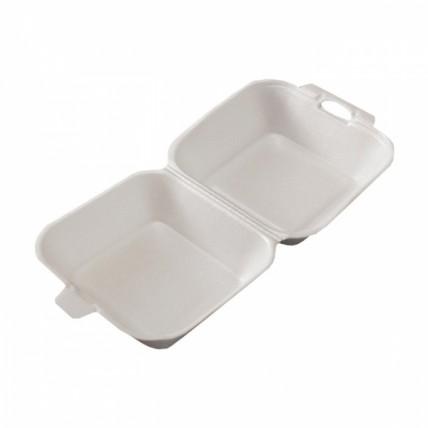 Vienkartinė putoplasto dėžutė mėsainiams, 1 vnt.