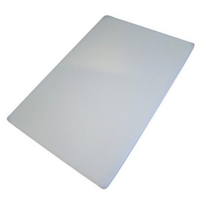 Balta plastikinė pjaustymo lentelė, 24x15x1cm WUYI