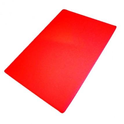 Raudona plastikinė pjaustymo lentelė 40x25x1,27cm WUYI