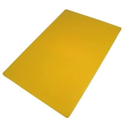Geltona plastikinė pjaustymo lentelė 50x30x2cm WUYI