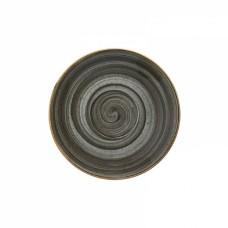 Pilka porcelianinė lėkštutė po arbatos puodeliu Bonna AURA SPACE, 16 cm Bonna