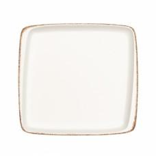 """Balta kvadratinė porcelianinė lėkštė BONNA """"Retro"""", 41 cm"""