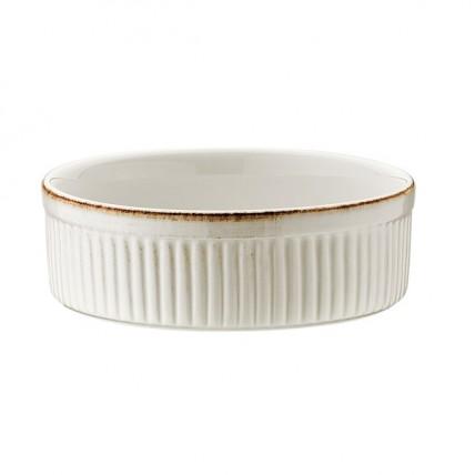 Baltas porcelianinis sufle dubenėlis BONNA Retro, 14 cm Bonna