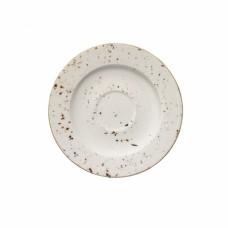 Balta raštuota porcelianinė lėkštutė po puodeliu BONNA Grain Gourmet, 16 cm Bonna