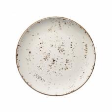 Balta raštuota porcelianinė lėkštė BONNA Grain Gourmet, 17 cm Bonna