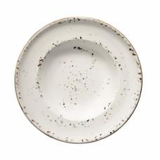 """Balta raštuota porcelianinė lėkštė sriubai BONNA """"Grain Gourmet"""", 27 cm"""